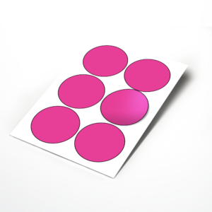 Large 88mm Circle Stickers