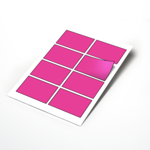 Medium 90x60mm Rectangle Stickers