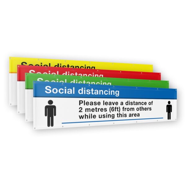 Social Distancing Banner 2 meter (6ft) x 500mm (1.5ft) 6