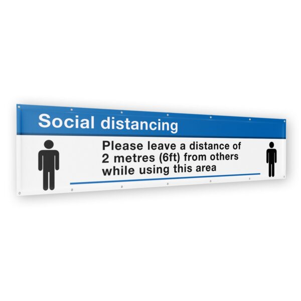 Social Distancing Banner 2 meter (6ft) x 500mm (1.5ft) 8