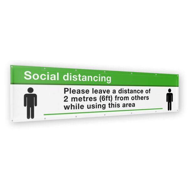 Social Distancing Banner 2 meter (6ft) x 500mm (1.5ft) 10