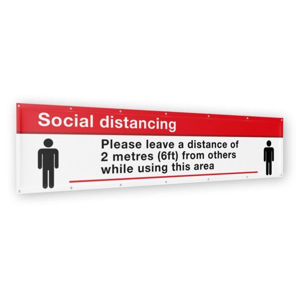 Social Distancing Banner 2 meter (6ft) x 500mm (1.5ft) 12