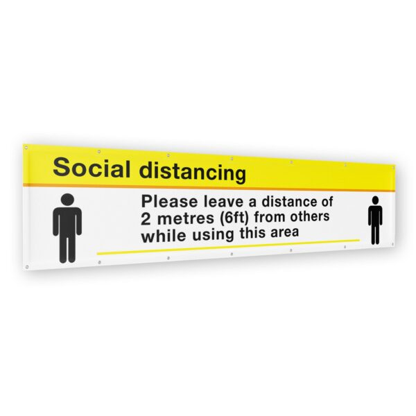Social Distancing Banner 2 meter (6ft) x 500mm (1.5ft) 14