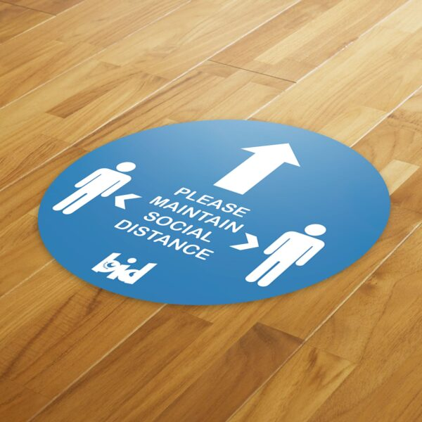 Barrow Bid - Social Distance Pack 4 Floor Sticker & A4 Poster - Covid 19 Safety Pack 12