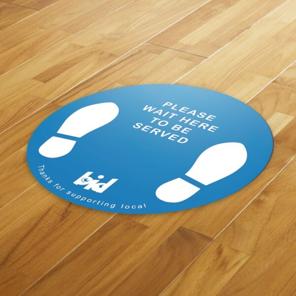 Barrow Bid - Social Distance Pack 4 Floor Sticker & A4 Poster - Covid 19 Safety Pack 10