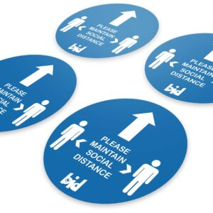 Barrow Bid – Social Distance Direction Floor Sticker – Pack of 4 Safety Expansion Pack