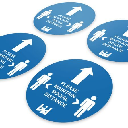 Barrow Bid - Social Distance Direction Floor Sticker - Pack of 4 Safety Expansion Pack 4