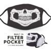 Skull Face - Reusable Adult Face Masks - 2 Filters Included 1