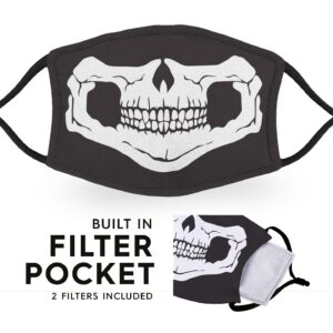 Skull Face – Reusable Adult Face Masks – 2 Filters Included