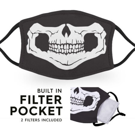 Skull Face - Reusable Adult Face Masks - 2 Filters Included 4