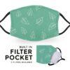 Green Leaf - Reusable Adult Face Masks - 2 Filters Included 2