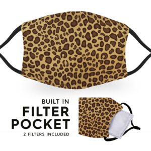 Cheetah Print – Reusable Adult Face Masks – 2 Filters Included
