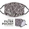 Zebra Print - Reusable Adult Face Masks - 2 Filters Included 4