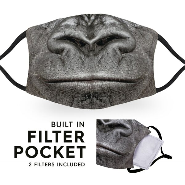 Gorilla Mouth - Reusable Adult Face Masks - 2 Filters Included 6