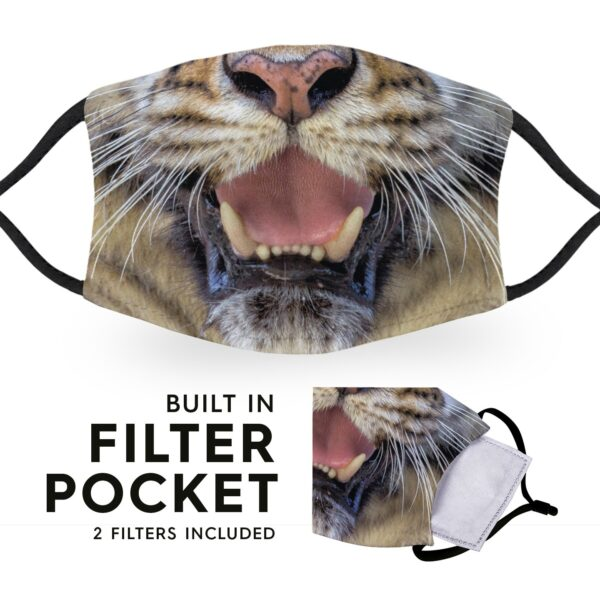 Tiger - Reusable Adult Face Masks - 2 Filters Included 6