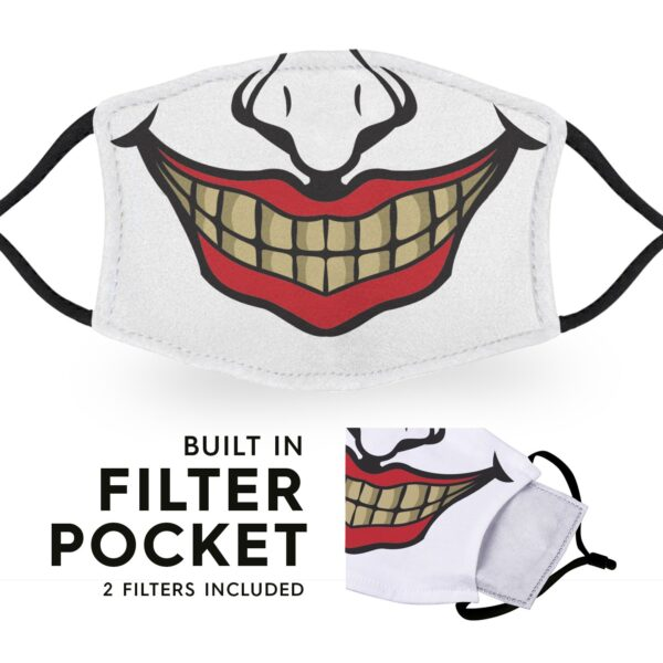 Clown - Reusable Adult Face Masks - 2 Filters Included 3