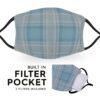 Blue Grey Tartan - Reusable Adult Face Masks - 2 Filters Included 2