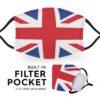 United Kingdom Flag - Adult Face Masks 1