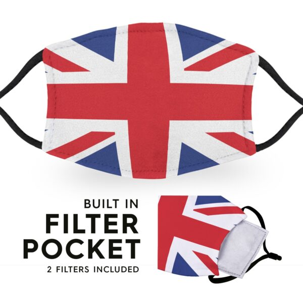 United Kingdom Flag - Adult Face Masks 3