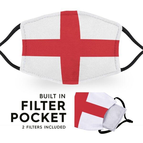 England Flag - Adult Face Masks 3