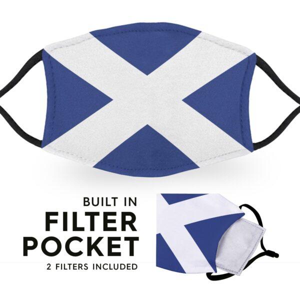 Scotland Flag - Adult Face Masks 6