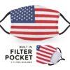 United States of America Flag - Adult Face Masks 2