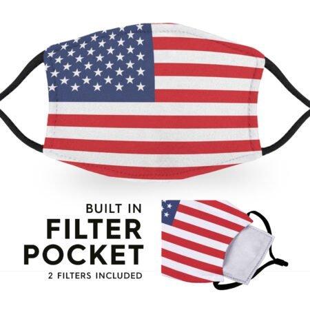 United States of America Flag - Adult Face Masks 6