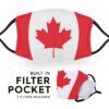 Canada Flag - Adult Face Masks 2