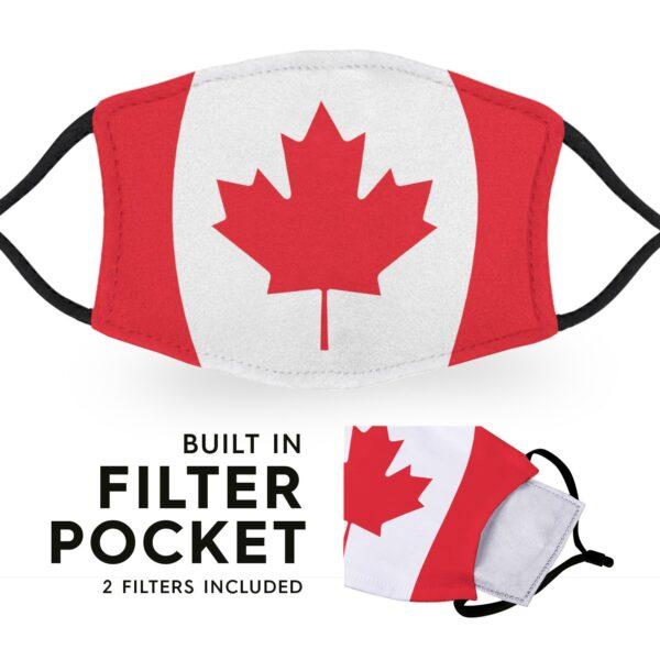 Canada Flag - Adult Face Masks 3