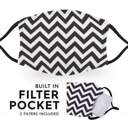 Chevron - Reusable Childrens Face Masks - 2 Filters Included 6