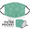 Green Leaf - Reusable Childrens Face Masks - 2 Filters Included 4
