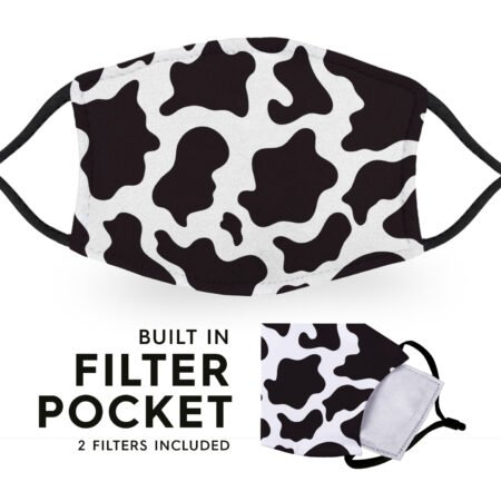 Cow Print - Reusable Childrens Face Masks - 2 Filters Included 6