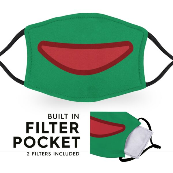 Froggy Mouth - Reusable Childrens Face Masks - 2 Filters Included 3