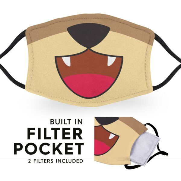 Grizzly Bear Mouth - Reusable Childrens Face Masks - 2 Filters Included 6
