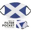 Scotland Flag - Childrens Face Masks 4