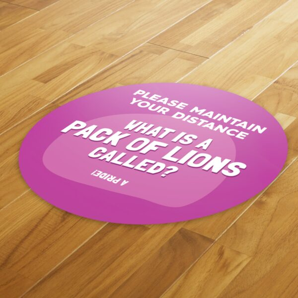 Fun Fact 1 Social Distancing - 4 Pack Square Floor Stickers 8