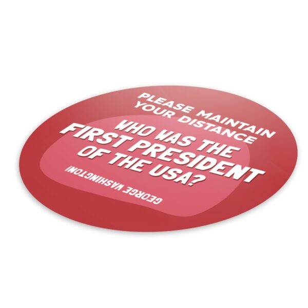 Fun Fact 2 Social Distancing - 4 Pack Square Floor Stickers 6