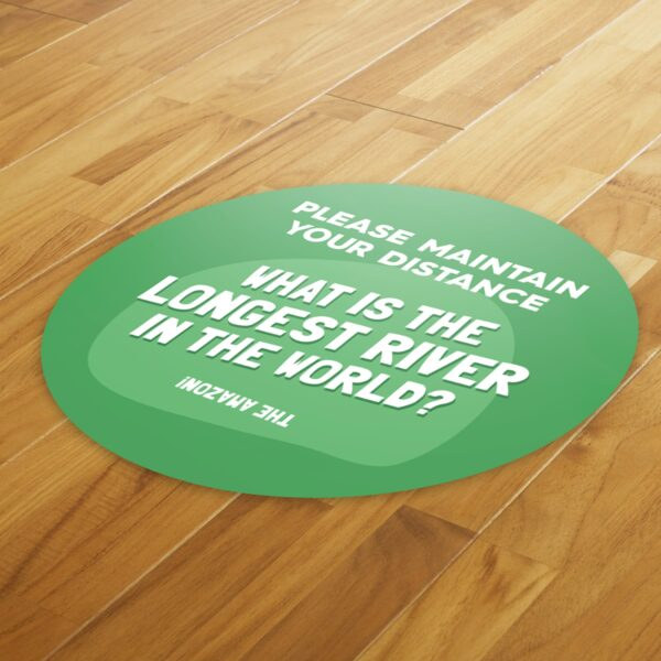 Fun Fact 3 Social Distancing - 4 Pack Square Floor Stickers 4