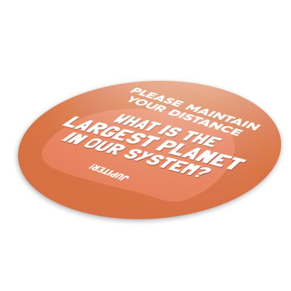 Fun Fact 4 Social Distancing - 4 Pack Square Floor Stickers 3