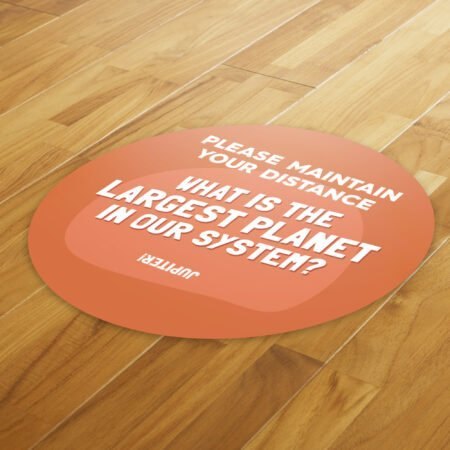 Fun Fact 4 Social Distancing - 4 Pack Square Floor Stickers 8