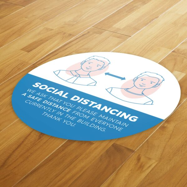 Medical Social Distance - 4 Pack Square Floor Stickers 4