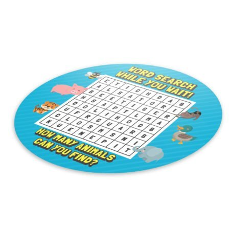Wordsearch Social Distance - 4 Pack Square Floor Stickers 6