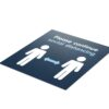 Blue Social Distancing - 4 Pack Square Floor Stickers 2