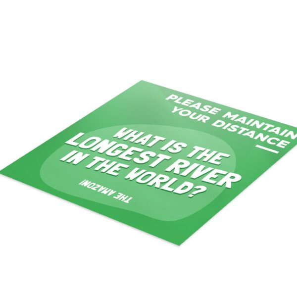 Fun Fact 3 Social Distancing - 4 Pack Square Floor Stickers 3