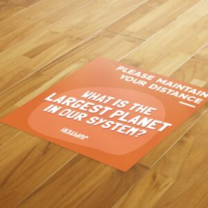 Fun Fact 4 Social Distancing – 4 Pack Square Floor Stickers