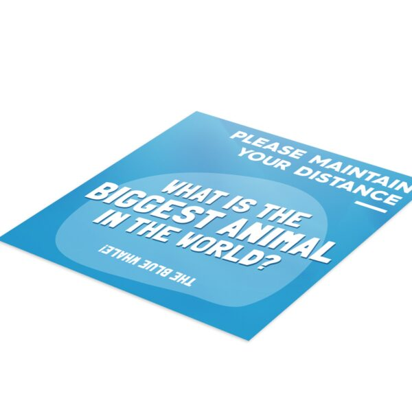Fun Fact 5 Social Distancing - 4 Pack Square Floor Stickers 6