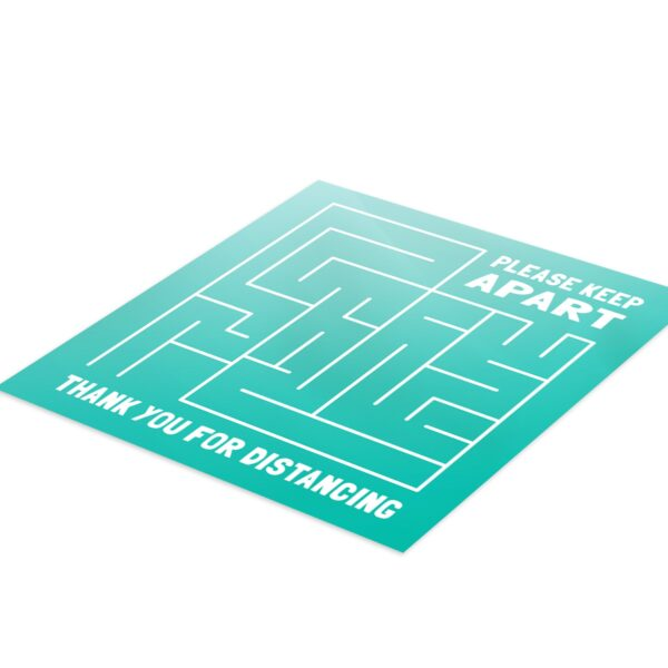 Maze Social Distance - 4 Pack Square Fun Floor Stickers 3