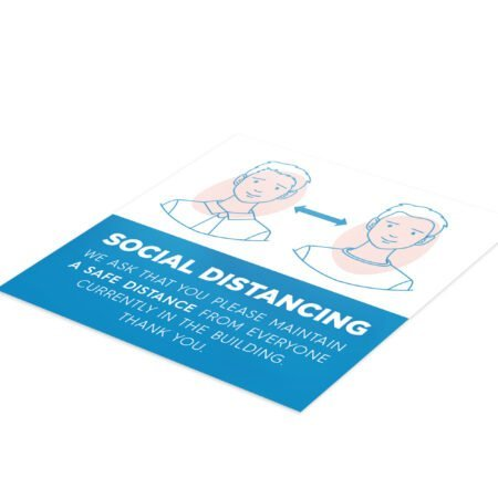 Medical Social Distance - 4 Pack Square Floor Stickers 6