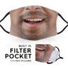 Indian Man Smile - Adult Face Masks 1