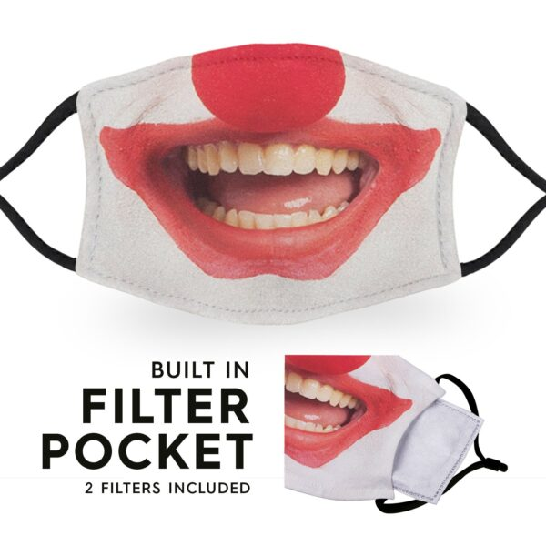 Clown Smile - Adult Face Masks - 2 Filters Included 3